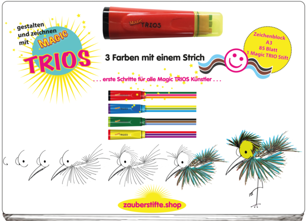 TRIO Activity Malblock A3   Roter Stift
