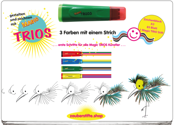 TRIO Activity Malblock A3   Grüner Stift